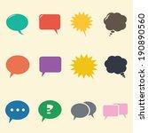 speech bubble icons  mono... | Shutterstock .eps vector #190890560
