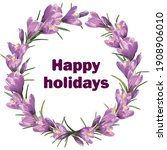 Happy Holidays. Postcard With...