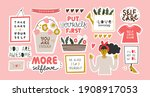 collection of stickers for... | Shutterstock .eps vector #1908917053