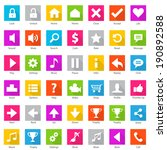 phone web internet flat icon set | Shutterstock .eps vector #190892588