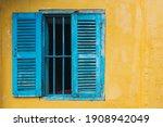 Blue Window On The Yellow...