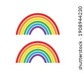 rainbow clip art vector... | Shutterstock .eps vector #1908944230