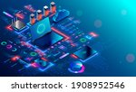 computer network security... | Shutterstock .eps vector #1908952546