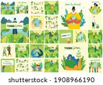 earth day concept. human hands...   Shutterstock .eps vector #1908966190