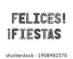 fiesta black and white banner....   Shutterstock .eps vector #1908982570