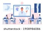 online webinar or medical... | Shutterstock .eps vector #1908986086