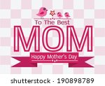 happy mothers day greeting card ... | Shutterstock .eps vector #190898789