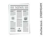 folded newspaper news in flat... | Shutterstock .eps vector #1908990499