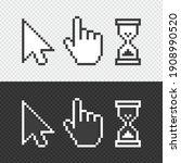 pixel cursors icons. vector...   Shutterstock .eps vector #1908990520