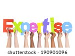 diverse hands holding the word... | Shutterstock . vector #190901096
