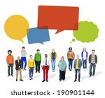 group of multiethnic diverse... | Shutterstock . vector #190901144