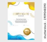 award certificate design ... | Shutterstock .eps vector #1909048390