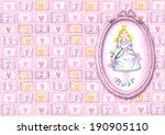 greetings card princess  hand... | Shutterstock . vector #190905110