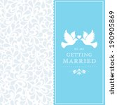 wedding card or invitation with ... | Shutterstock . vector #190905869