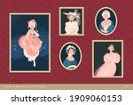 a set of paintings in frames.... | Shutterstock .eps vector #1909060153