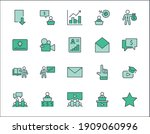 set of business training... | Shutterstock .eps vector #1909060996