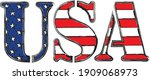 word usa with american ... | Shutterstock .eps vector #1909068973