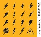 lightning vector signs.... | Shutterstock .eps vector #1909072603