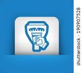 parking meter ticket | Shutterstock .eps vector #190907528