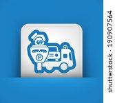 wrecker parking area | Shutterstock .eps vector #190907564