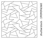 unusual abstract blank jigsaw... | Shutterstock .eps vector #1909096360
