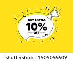 get extra 10 percent off sale.... | Shutterstock .eps vector #1909096609