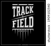 track and field insignia  track ... | Shutterstock .eps vector #1909102540