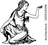 young woman  virgo astrological ... | Shutterstock .eps vector #190910498