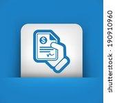 payment document | Shutterstock .eps vector #190910960