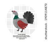 capercaillie bird vector... | Shutterstock .eps vector #1909114870