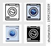 washing machine icon vector...   Shutterstock .eps vector #1909123039