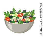 homemade fresh vegetable salad... | Shutterstock .eps vector #1909127740