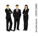 drawings businessmen on a white ... | Shutterstock .eps vector #190912880