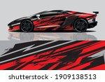 car decal wrap design vector | Shutterstock .eps vector #1909138513
