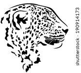 Leopard Head Profile Design  ...