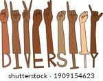diversity american sign...   Shutterstock .eps vector #1909154623