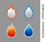 glossy fire and water icons on... | Shutterstock .eps vector #190916810