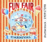 vintage carnival fun fair theme ... | Shutterstock .eps vector #190917398