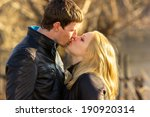 couple kissing happiness fun.... | Shutterstock . vector #190920314