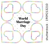 world marriage day card with... | Shutterstock .eps vector #1909213210