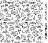 breakfast food seamless pattern ... | Shutterstock .eps vector #1909214626