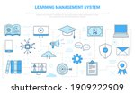 lms learning management system... | Shutterstock .eps vector #1909222909