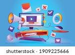 digital online marketing web... | Shutterstock .eps vector #1909225666