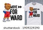 graphic t shirt design  move... | Shutterstock .eps vector #1909229290