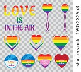 Lgbt Badges And Icons With...