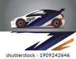 racing car decal wrap design....   Shutterstock .eps vector #1909242646