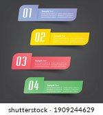 modern text box template ... | Shutterstock .eps vector #1909244629