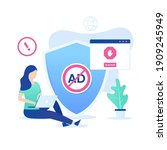 ad blocking software vector...