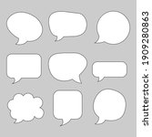speech bubble pack flat icon...   Shutterstock .eps vector #1909280863