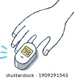 measure oxygen concentration... | Shutterstock .eps vector #1909291543